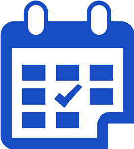 Icon of a calendar showing the passing of time since home inspection services were preformed