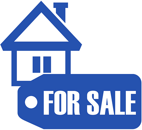 Icon of a for sale sign in front of a house after home inspection services were done